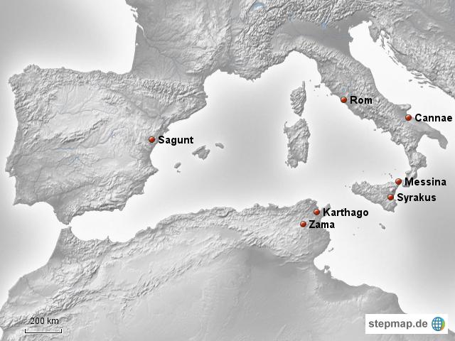 karthago karte Rom und Karthago während der Punischen Kriege von adrobisch
