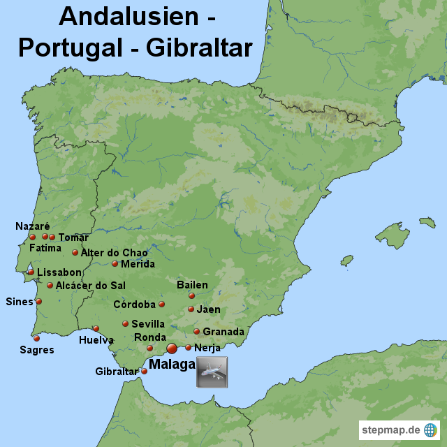 andalusien karte: