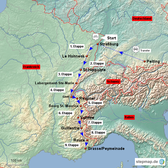 Tour Of The Alps  Route Map