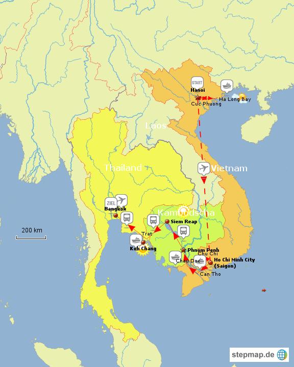 rundreise durch vietnam kambodscha thailand von. Black Bedroom Furniture Sets. Home Design Ideas