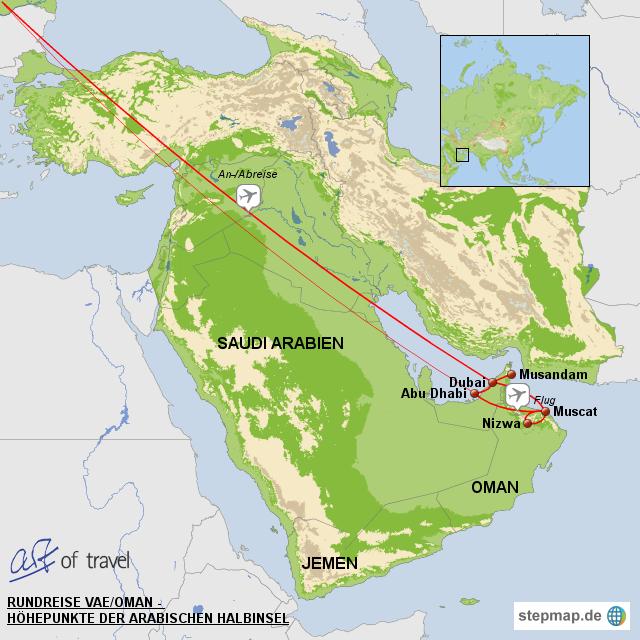 Brief Nach Vereinigte Arabische Emirate : Rundreise vereinigte arabische emirate und oman