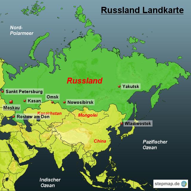 Startseite landkarten welt europa russland russland landkarte