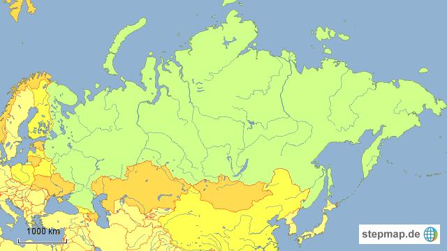 Russland und Nachbarländer von Orden795   Landkarte für Russland