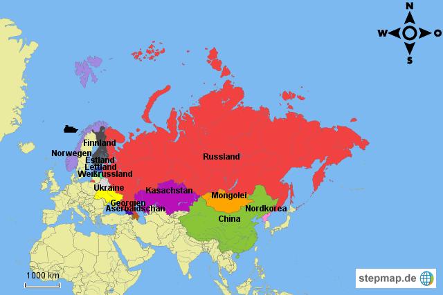 Russland und Nachbarländer von Laurasophiersk2014   Landkarte für