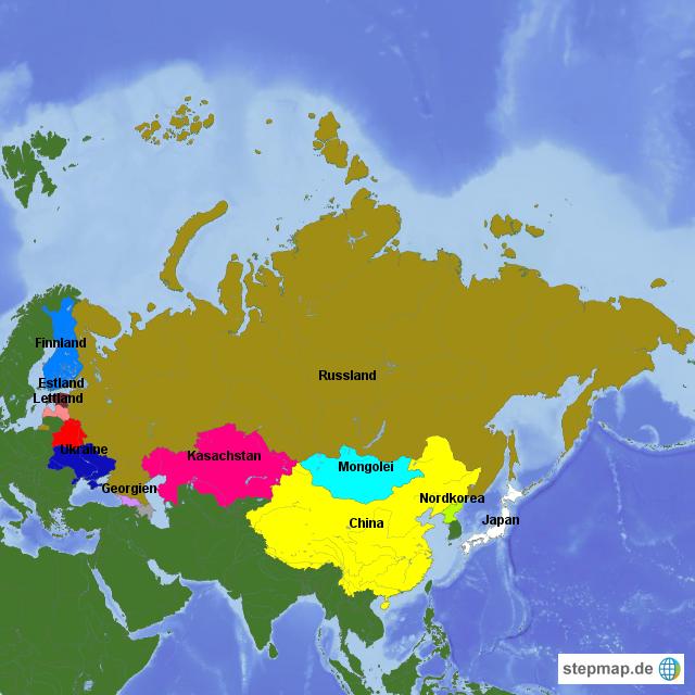 Russland und Nachbarländer von vorname rsk2014   Landkarte für