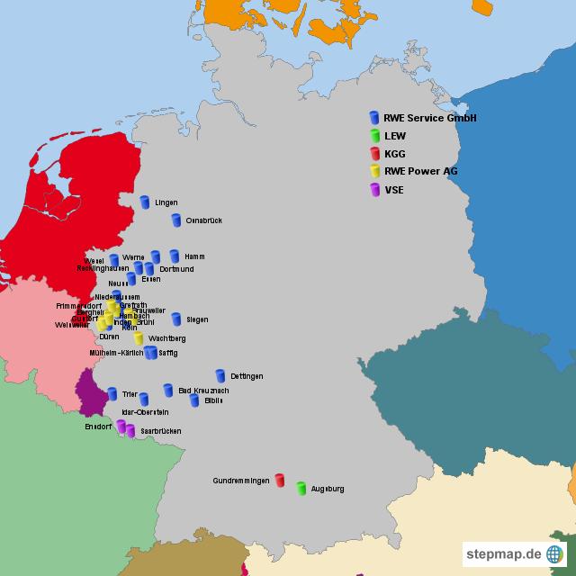 Rwe Standorte Governance Von Dax100 Landkarte F R