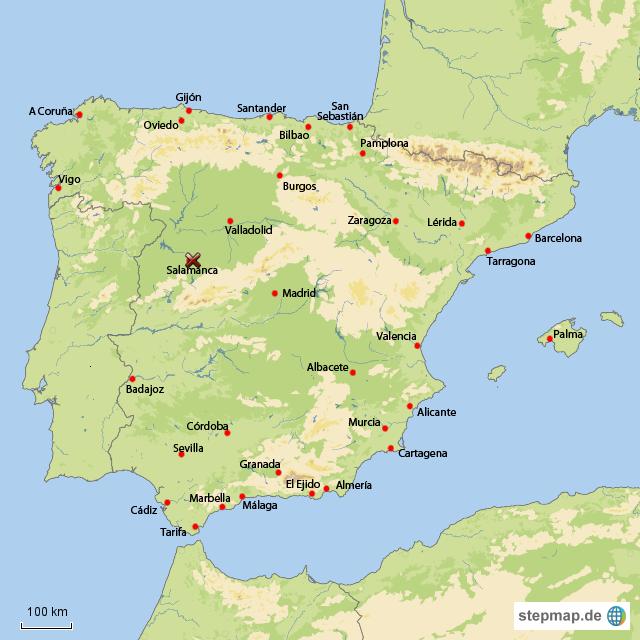 salamanca karte Salamanca in Spanien von annamk   Landkarte für Spanien