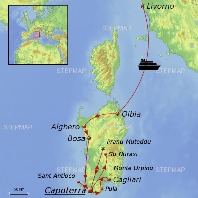 Karte Sardinien Süden.Sardiniens Herrlicher Süden Von Debenjak Landkarte Für Deutschland