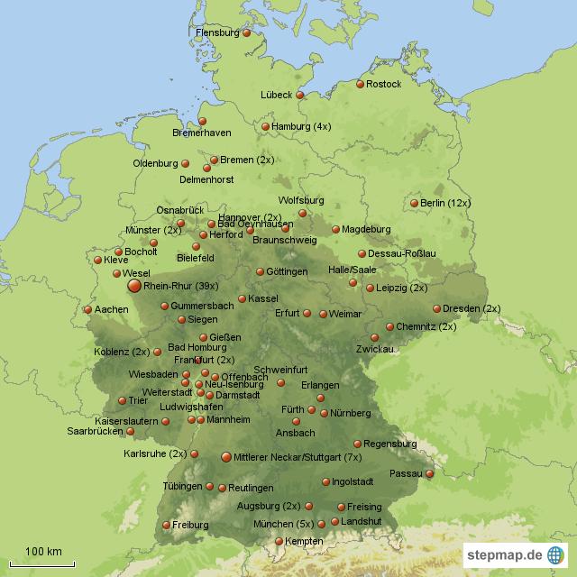 Saturn Standorte In Deutschland Von Maxi76 Landkarte F R