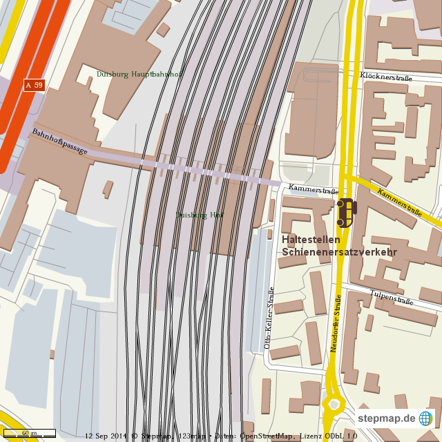 Schienenersatzverkehr Duisburg HBF von waz Landkarte fr die Welt