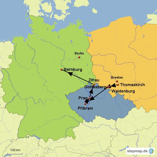 Polen Schlesien Karte.Schlesien Bernburg Von Johanna Jud Landkarte Für Polen