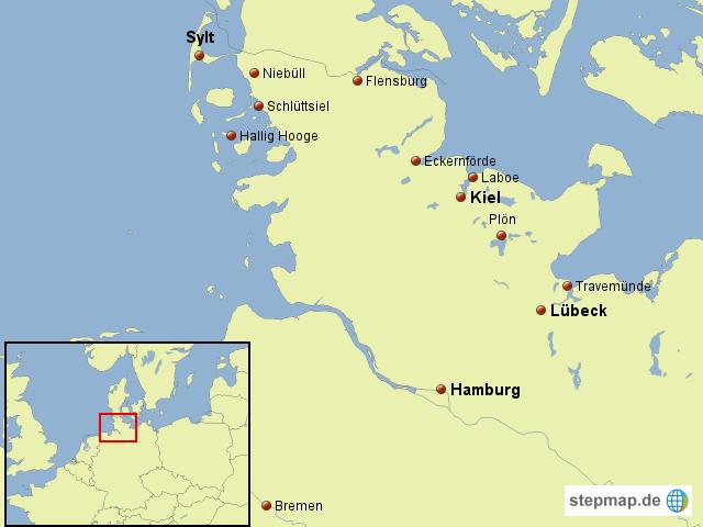 schleswig holstein von enzmann landkarte f r deutschland. Black Bedroom Furniture Sets. Home Design Ideas