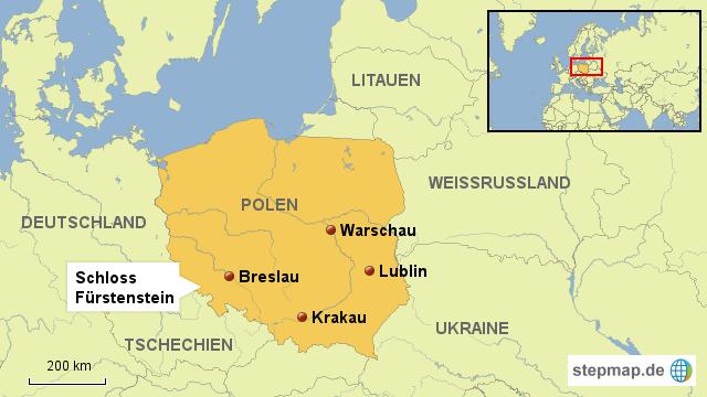 breslau karte Schloss Fürstenstein, Polen, Breslau von fotoredaktion   Landkarte