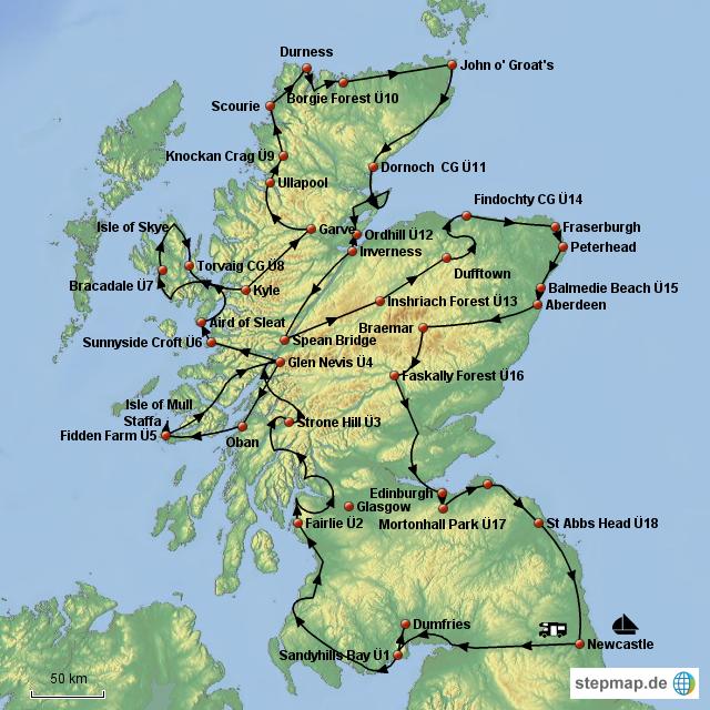 Schottland Karte Highlands.Schottland Karte Highlands Hanzeontwerpfabriek
