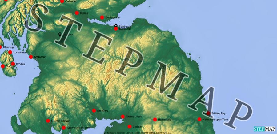 Landkarte: Schottland 2013