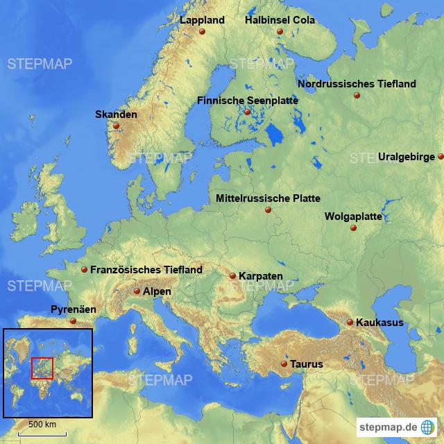 Uralgebirge Karte.Schule Grüh Von Daspaulizei Landkarte Für Deutschland