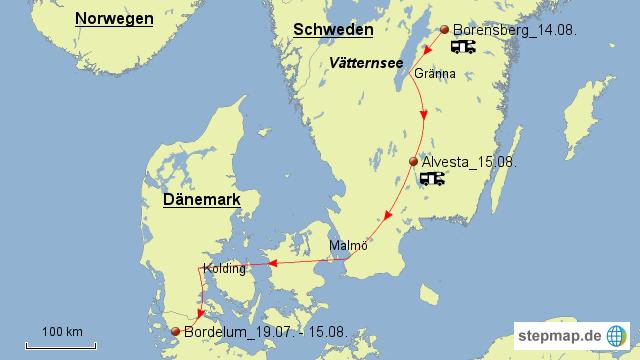 Karte Schweden Dänemark Deutschland.Schweden Dänemark Von Joachimbaumgarten Landkarte Für Deutschland
