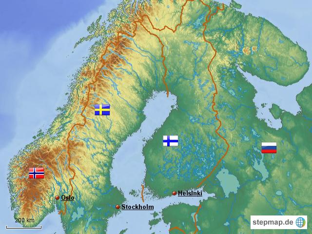 Schweden/Finnland/Norwegen von fuxnuxer - Landkarte für ...