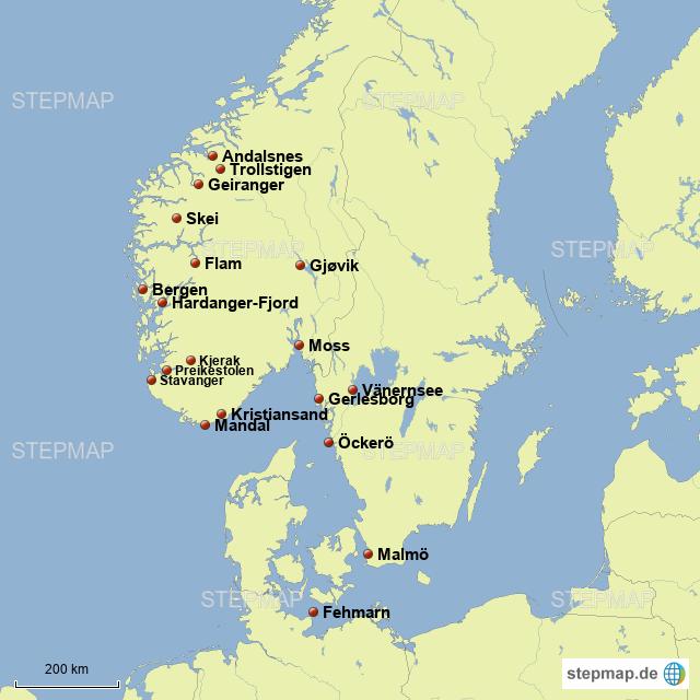 Schweden Und Norwegen Von Mausilein Landkarte Fur Deutschland