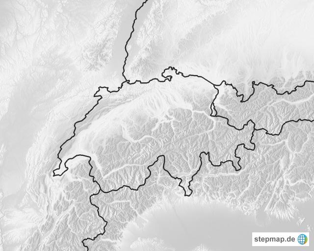 Schweiz Karte Schwarz Weiss.Stepmap Schweiz Relief Landkarte Fur Schweiz