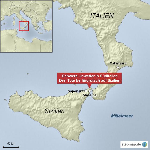 unwetter italien karte Schwere Unwetter in Süditalien von Nama   Landkarte für Italien