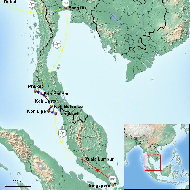 Singapore malaysia thailand urlaub 01 03 25 03 2012