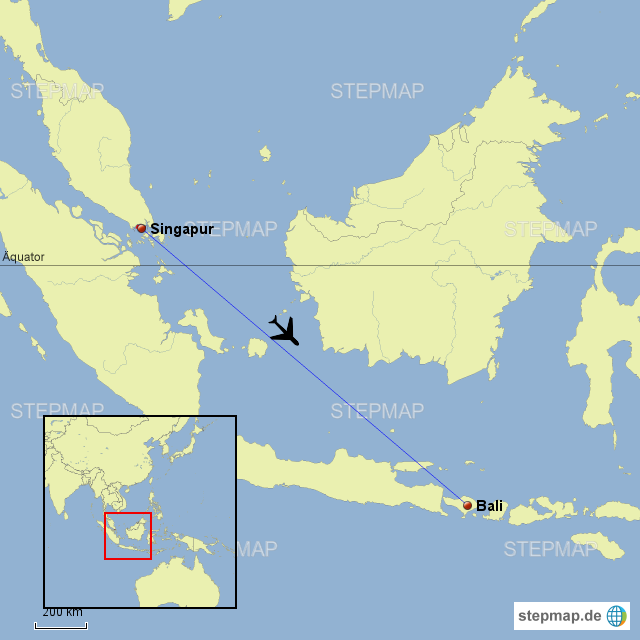 Singapur Bali neu von kampfhund - Landkarte für Deutschland