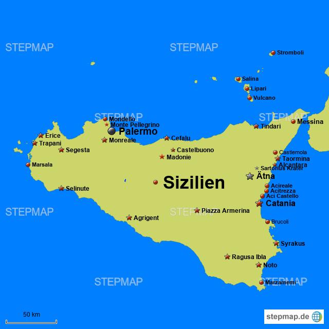 Sizilien Von Pefprator39 Landkarte Fur Sizilien