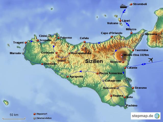 Sizilien von sucevica - Landkarte für Sizilien