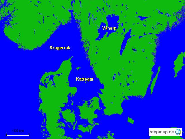 Kattegat Karte
