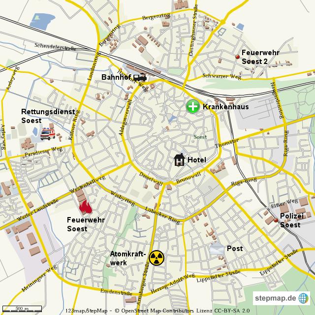 soest karte Soest von Nils112   Landkarte für Deutschland