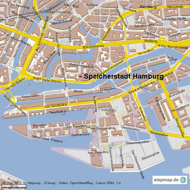 karte speicherstadt hamburg StepMap   speicherstadt hamburg   Landkarte für Welt