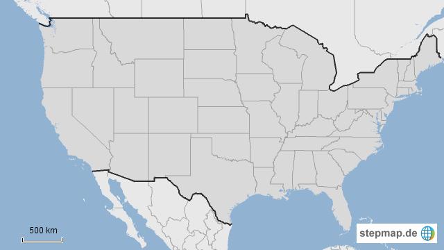 Amerika Karte Staaten.Stumme Karte Usa Staaten Creactie