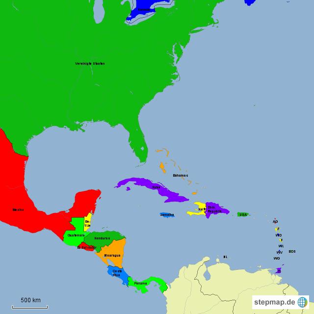 Mittelamerika Karte Staaten.Mittelamerika Karte Mit Staaten Hanzeontwerpfabriek