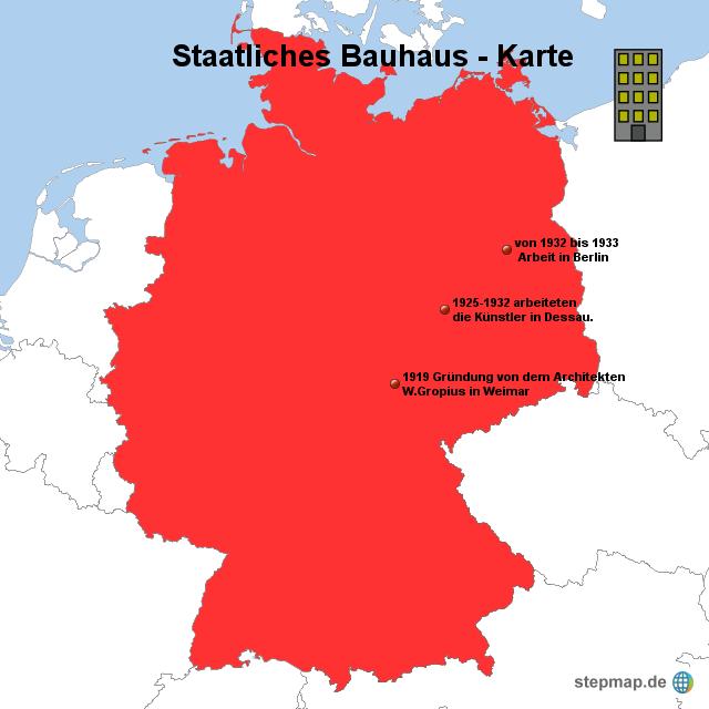 Staatliches bauhaus karte von spiabene04 landkarte f r for Staatliches bauhaus