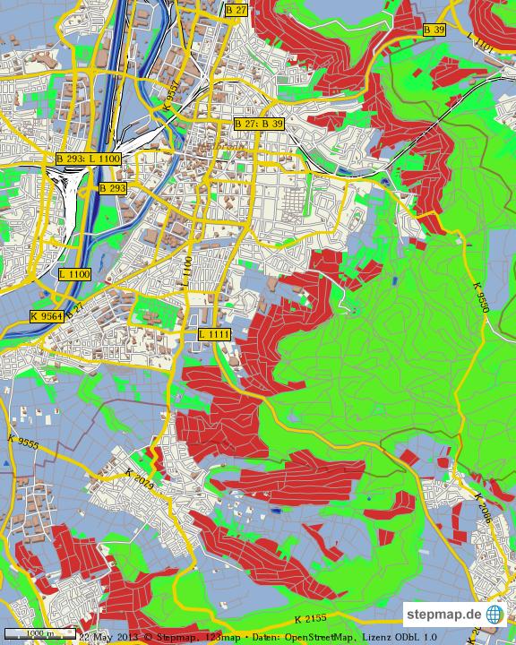 Heilbronn Karte Stadtplan.Stepmap Stadtplan Heilbronn Landkarte Fur Welt
