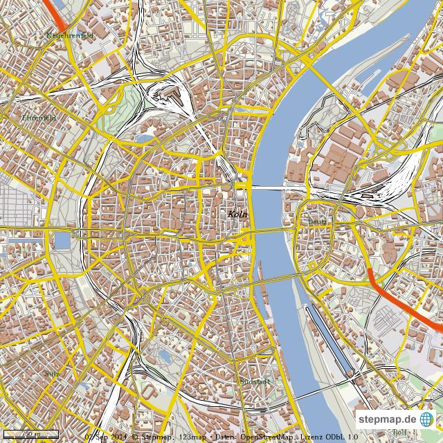 stadtplan k ln von ittenbach landkarte f r die welt