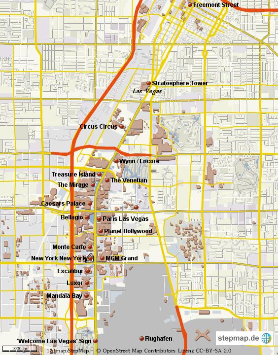 Stadtplan Las Vegas