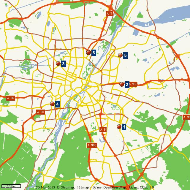 Stadtplan München von alpetour - Landkarte für die Welt