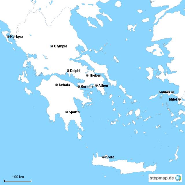 stadtstaaten im antiken griechenland von schefflerd landkarte f r deutschland. Black Bedroom Furniture Sets. Home Design Ideas
