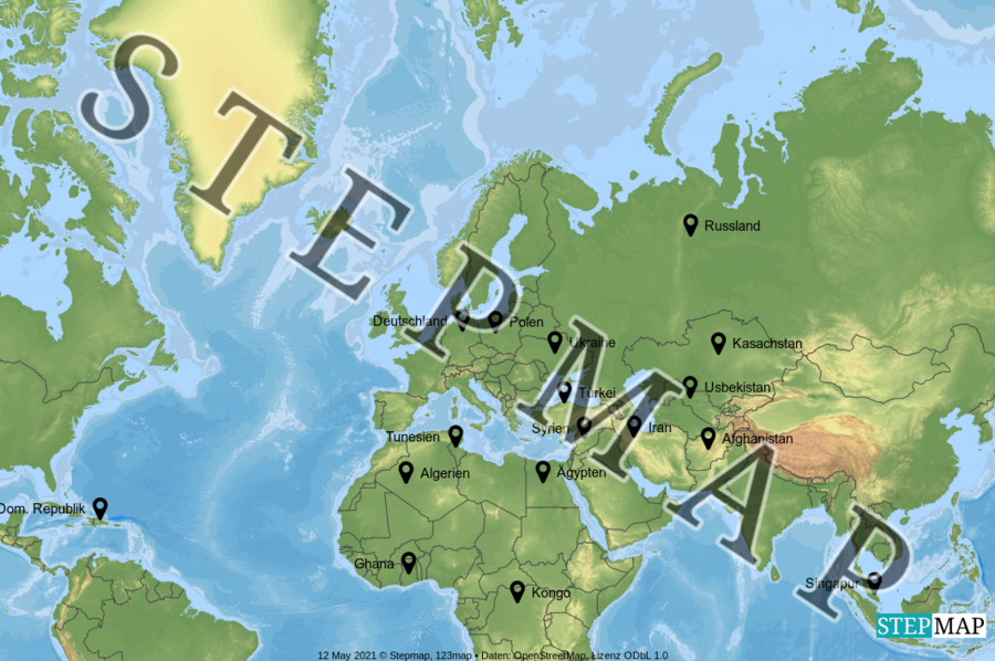 Landkarte: Stadtteileltern