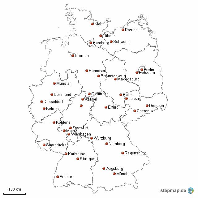 landkarte deutschland bundesl nder und st dte my blog. Black Bedroom Furniture Sets. Home Design Ideas