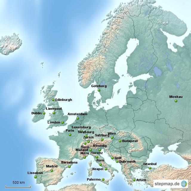 st dte europa wo ich war von fondtiger landkarte f r deutschland. Black Bedroom Furniture Sets. Home Design Ideas
