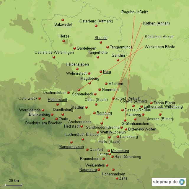Städte In Sachsen Anhalt Mit über 10000 Einwohnern Von Maxi76