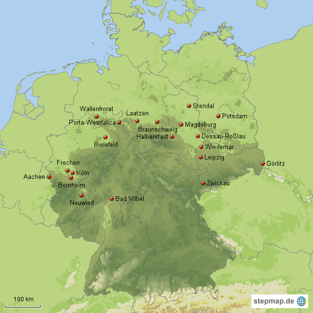 Standorte Von Porta Mobel Von Maxi76 Landkarte Fur Deutschland