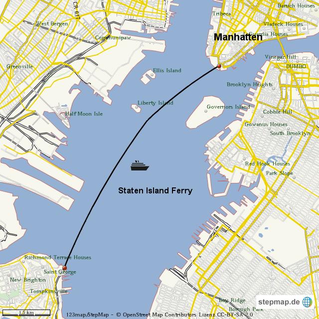 Staten Island Ferry Terminal Map