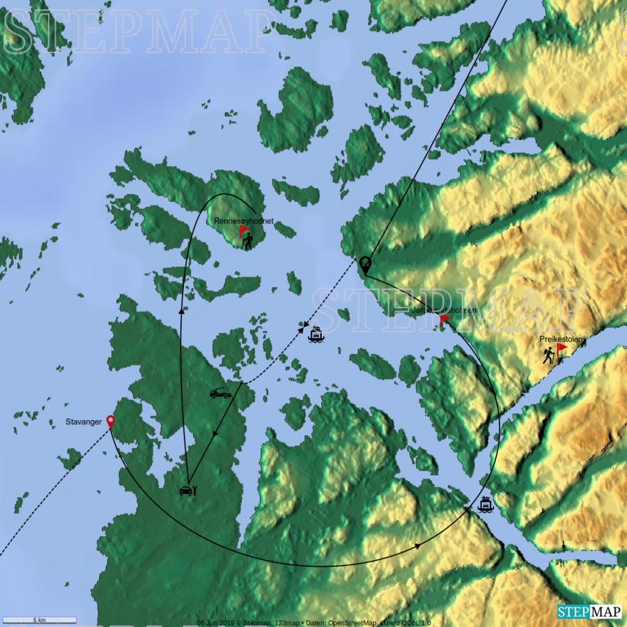 Landkarte: Stavanger