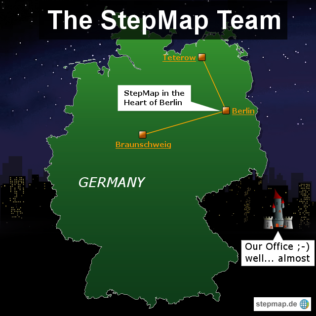 stepmap team map von occi landkarte f r deutschland. Black Bedroom Furniture Sets. Home Design Ideas