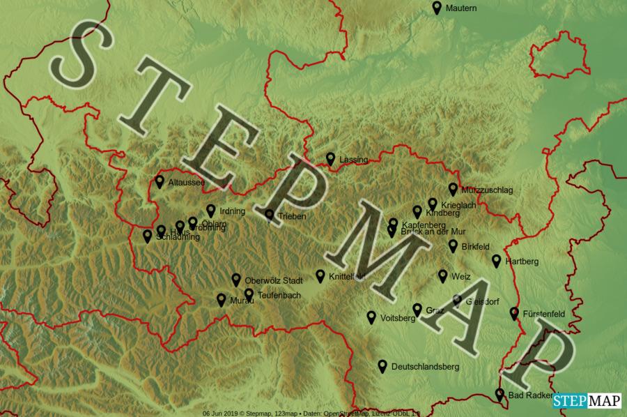 Landkarte: Stmk