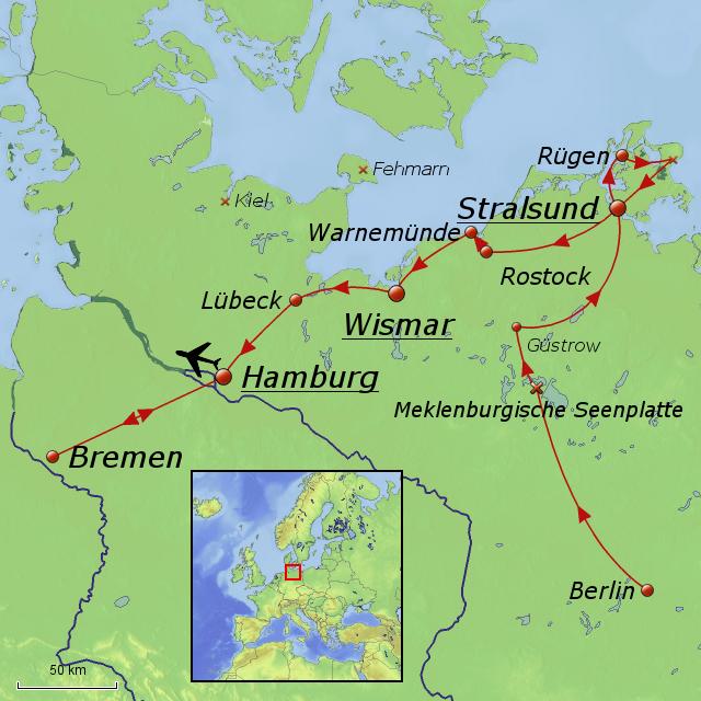 hansestädte deutschland karte Stolze Hansestädte von Debenjak   Landkarte für Deutschland